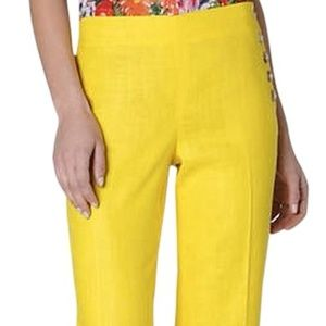 =ANTHROPOLOGIE=YELLOW ANDROS WIDE LEG TROUSERS 0